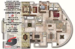 Plan Golden Arkad residence , Lebanon - Tyre ( Hosh )