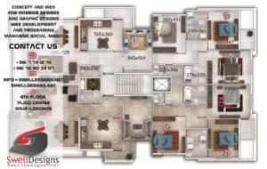 Plan Phenicia Arkad residence , Lebanon - Tyre ( Hosh )