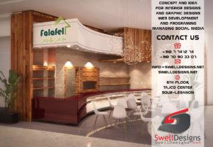 interior 3d - Falafel house - Restaurant - Iraq